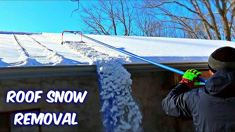 A Gadget For Easily Removing Snow From a Rooftop