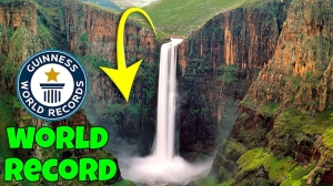 A Man Sets Guinness World Record for Making the Highest Basketball Shot Over a 660-Foot Waterfall