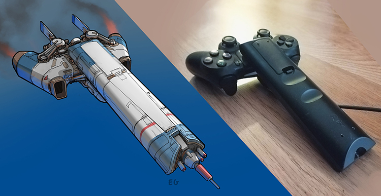 Artist Creates Fantastic Drawings of Spaceships Inspired by Household Objects