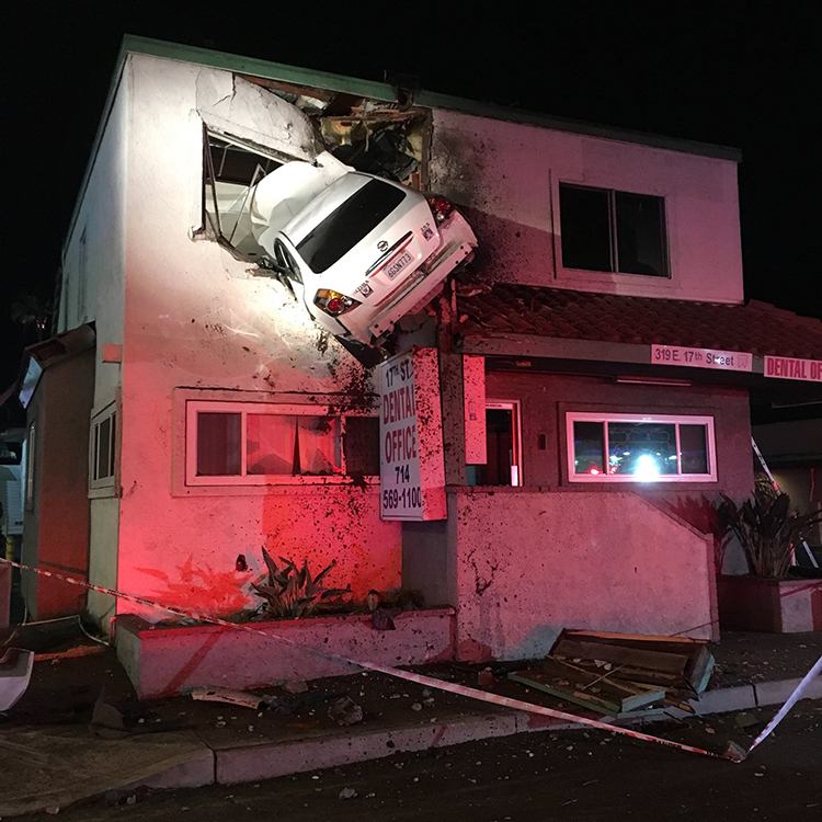 A speeding car launches off median crashing into the for What goes into building a house