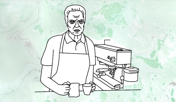 Christopher Walken Advertises His New Coffee Shop in an Completely Improvised Absurdist Animation