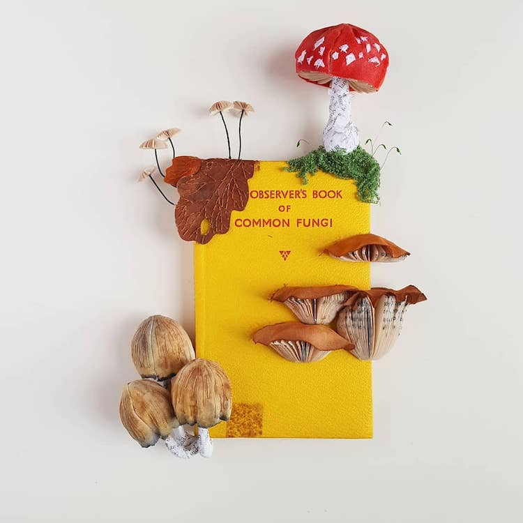 Classic Books Adorned With Decorative Papercraft Versions of the Subject Described Within the Pages