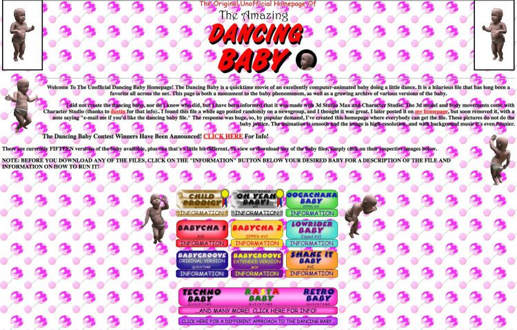 Dancing Baby Homepage