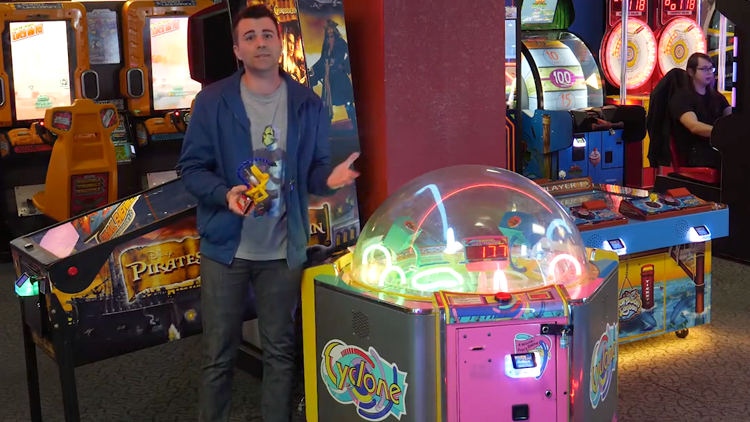 Engineer Mark Rober Uses Science and a Robot to Discover That an Arcade Game Is Rigged