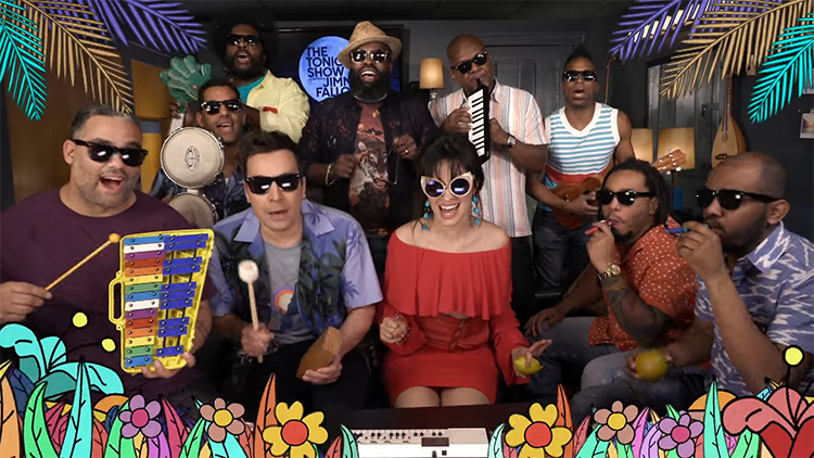 Jimmy Fallon, Camila Cabello, and The Roots Play the Song 'Havana' With Classroom Instruments