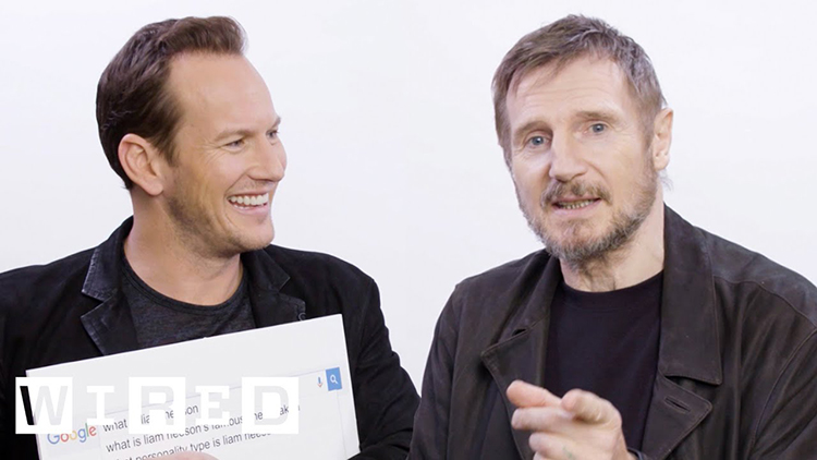 Liam Neeson and Patrick Wilson Answer the Web's Most Searched Questions About Themselves