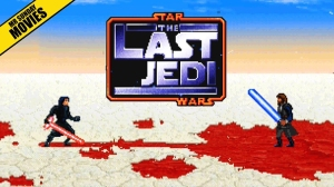 Luke Skywalker Battles Kylo Ren in a 16-Bit Animated Video Game Remake of The Last Jedi