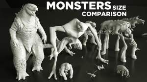 Monsters Size Comparison in Movies