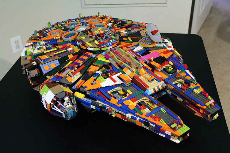 Artist Builds a Multicolored Version of the LEGO Star Wars Ultimate