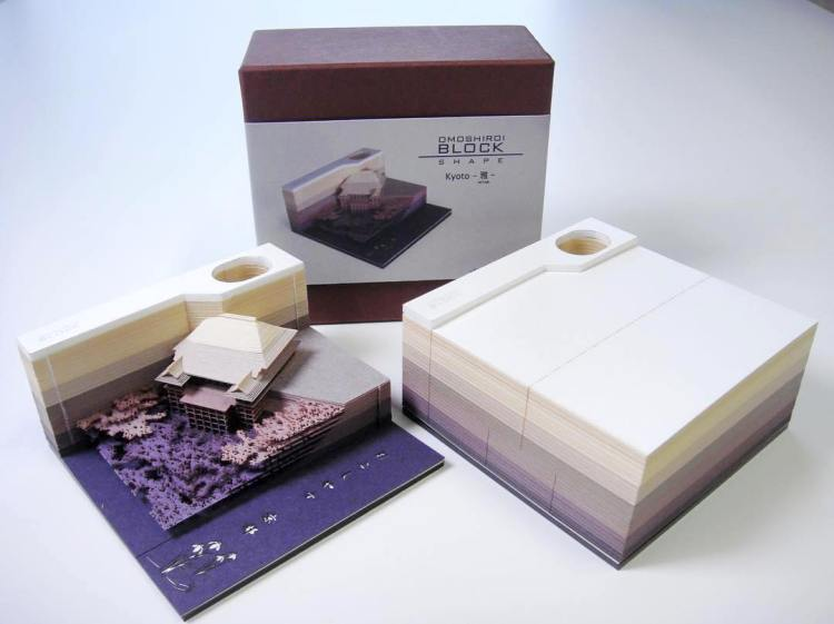 Omoshiroi Block, A Memo Pad That Reveals an Elaborate Embedded Design as the Paper Is Used
