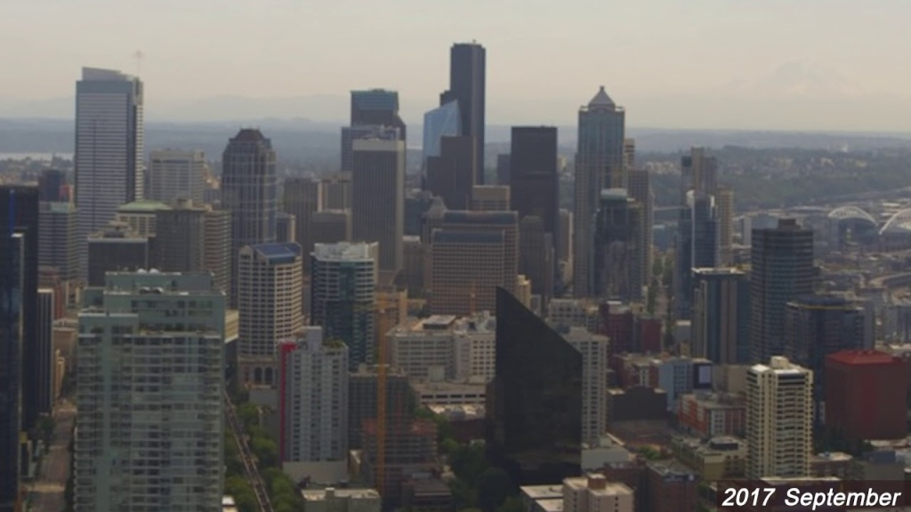 An Amazing Three Year Timelapse Taken From the Space Needle Show Seattle's Explosive Growth
