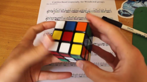 Star Wars Cantina Band Song Played With a Rubik's Cube While Being Solved