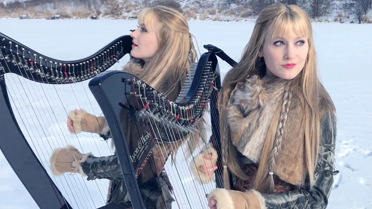 The Harp Twins Perform a Rocking Cover of Led Zeppelin's 'Immigrant Song'