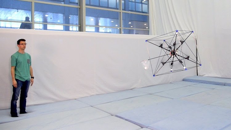 The Omnicopter, A Super Agile Omni-Directional Drone That Can Play Catch With a Ball