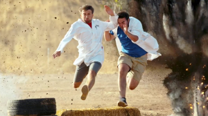 The Slow Mo Guys Perform Action Hero Stunts and Hollywood Style Falls in Super Slow Motion