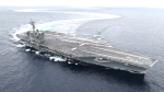 USS Abraham Lincoln Aircraft Carrier Drifting and Doing Donuts in the Atlantic Ocean2