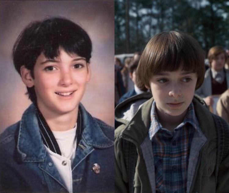 A Young Winona Ryder Traveled to the Future to Play the Son of Older Winona Ryder in Stranger Things