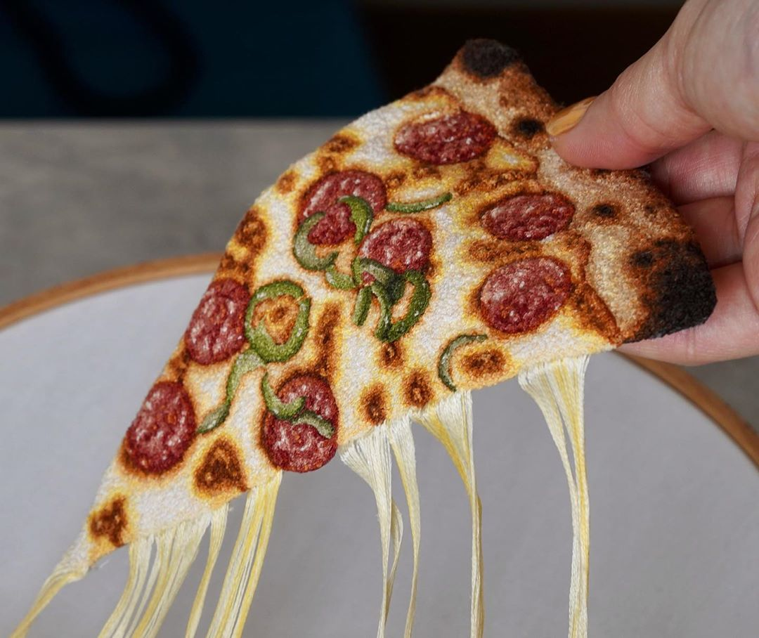 Incredibly Realistic Embroidered Food