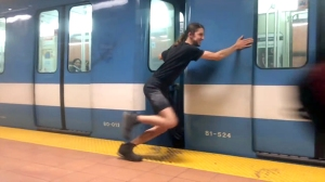 Amazing Man Stops and Launches a Subway Train With His Bare Hands