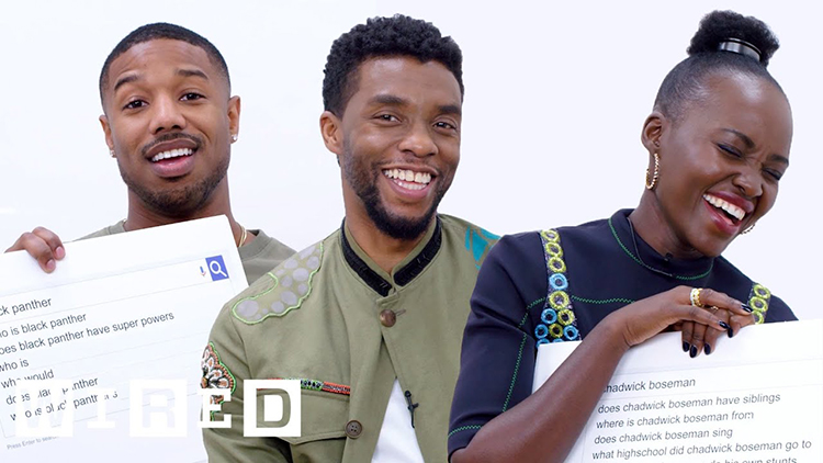 The Stars of 'Black Panther' Answer the Web's Most Searched Questions About Themselves