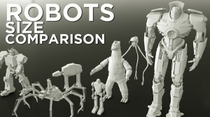 Comparing the Sizes of Well-Known Movie Robots
