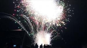 Fireworks Going Off at Once