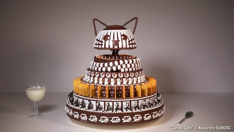 Gâteau Gato, A Brilliant Purring Cake Zoetrope Dedicated to All Things Cat