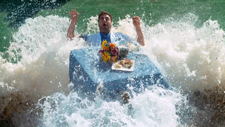 Getting Hit by a Tidal Wave While Eating Lunch in Super Slow Motion