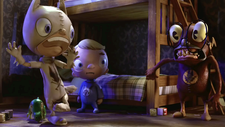 I'm Scared, A Stop-Motion Animated Short Based on the Surreal Artwork of Greg 'Craola' Simkins