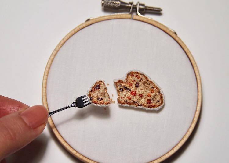 Amazingly Detailed, Incredibly Realistic Embroidered Food That Truly Looks Good Enough to Eat