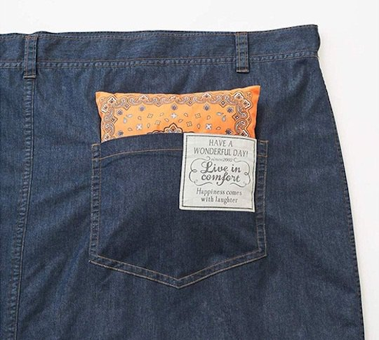 Jeans Sleeping Bag Pocket Pillow