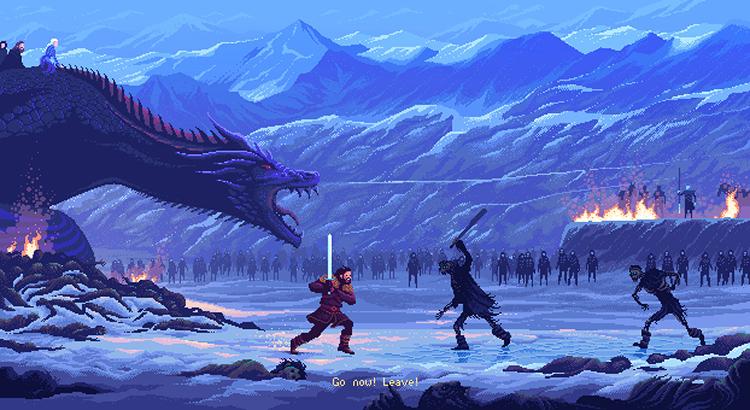 Pixel Art Jon Snow