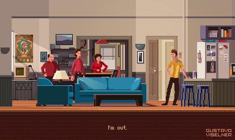Pixel Art Seinfeld