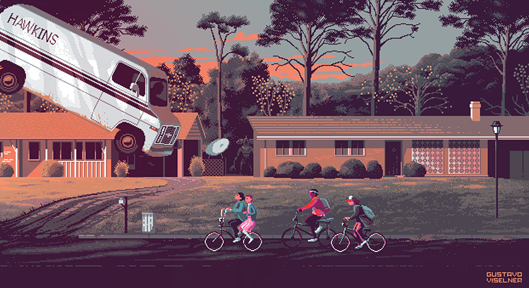 Video Game Pixel Art Prints Featuring Scenes From Popular Movies and TV Shows