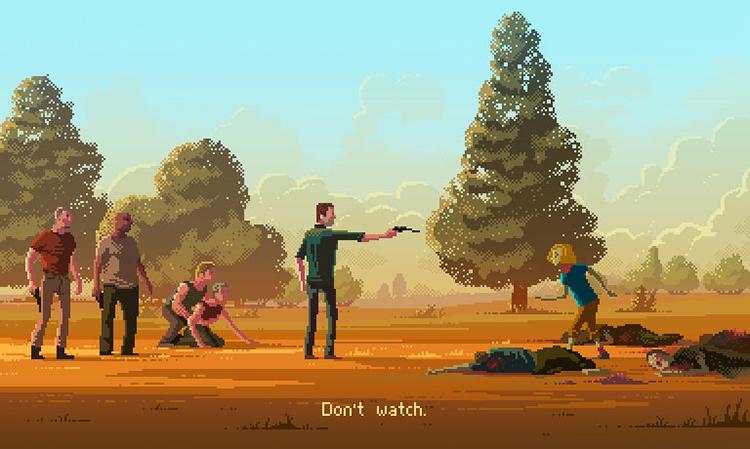 Pixel Art The Walking Dead