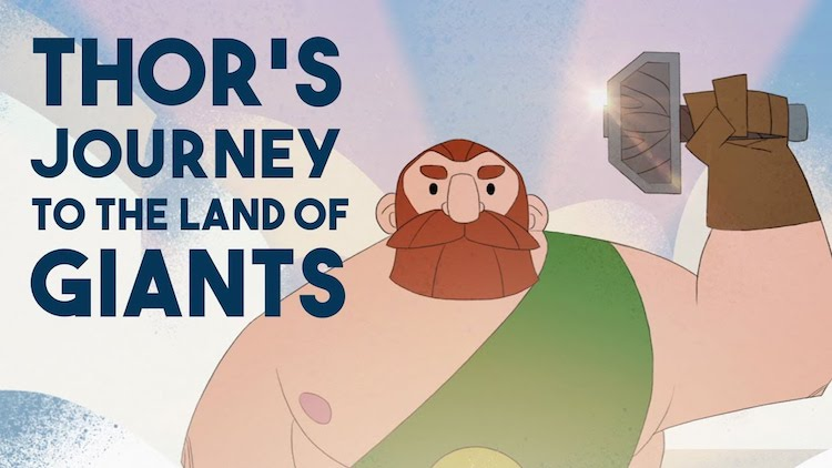 A Brilliant Animation That Explains the Mythical Tale of Thor's Journey to the Land of Giants