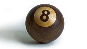Woodworker Turns a Chunk of Walnut Into a Beautiful 8-Ball