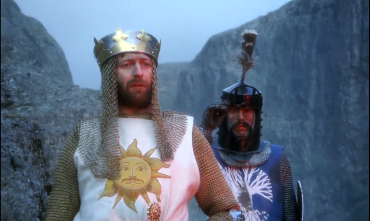 Monty Python and the Holy Grail as action drama