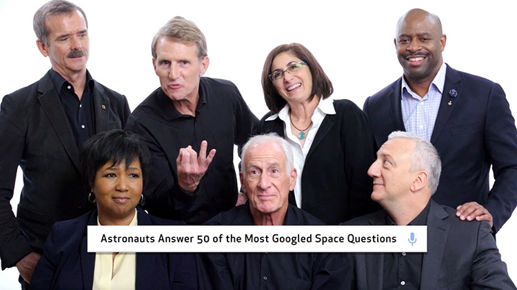 A Group of NASA Astronauts Answer the Web's Most Searched Questions About Space