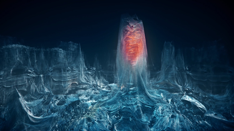 Abiotic Awareness, An Eerie Fractal Journey Inside of an Icy Research Facility in the Arctic