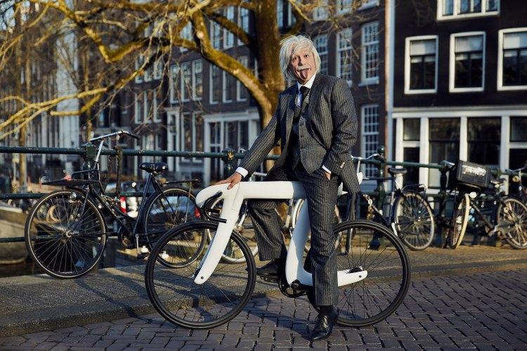 Albert Einstein on Bike