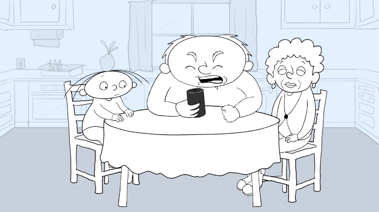 Cartoonist Hilariously Animates Her Father and 98 Year Old Grandmother Arguing With Amazon Alexa