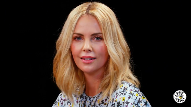 Charlize Theron Talks About Her Life and Takes a Rorschach Test While Eating Spicy Wings