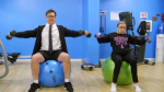 Colbert and RBG Workout