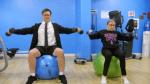 Colbert and RBG Workout