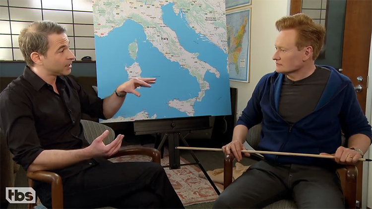 Conan O'Brien and Jordan Schlansky Hilariously Prepare for Their Trip to Italy