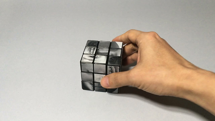 A Unique Rubik's Cube That Is Solved Using Photos of People's Faces Instead of Colors
