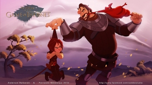 Disney Style Game Of Thrones Illustrations