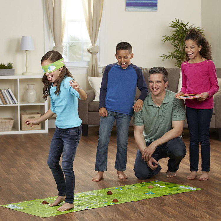 Don't Step In It, A Hasbro Game Where Blindfolded Players Try to Step on the Fewest Poops to Win