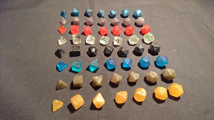 Edible Polyhedral Sugar Dice Set